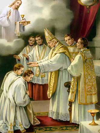Depiction of the Sacrament of Holy Orders from the 1920's courtesy of Wikipedia