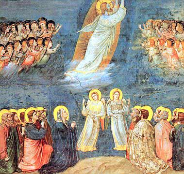 Giotto painting of Christ's ascension into Heaven courtesy of Wikipedia