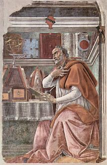 Painting of St. Augustine by Sandro Boticelli courtesy of Wikipedia
