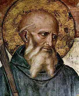 Painting of St. Benedict by Fra Angelico, courtesy of Wikipedia