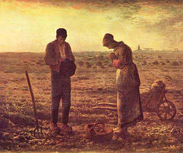 Evening Prayer, by Jean-Francois Millet, courtesy of Wikipedia