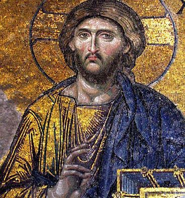 Picture of Jesus from the Hagia Sofia mosaic courtesy of Wikipedia