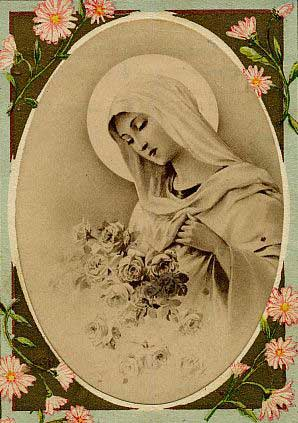 Picture of the Blessed Virgin Mary courtesy of Chant Art