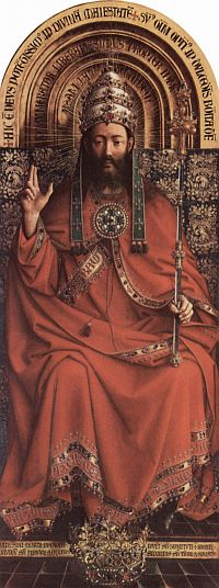 Painting of Christ the King, taken from the Ghent Altarpiece by Jan van Eyck, courtesy of Wikipedia.