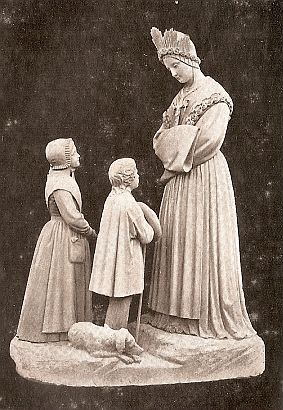 Picture of Our Lady of La Salette from a French postcard in 1895 courtesy of Wikipedia