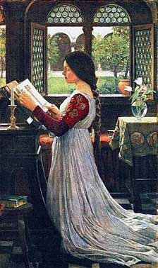 Painting of The Missal by John William Waterhouse courtesy of Wikipedia