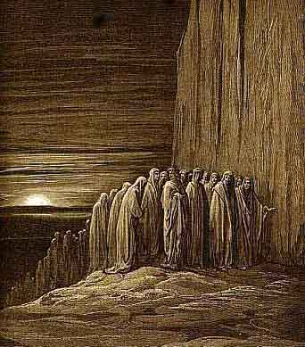 Illustration for Dante's Purgatorio, by Gustave Doré, an imaginative picturing of Purgatory, courtesy of Wikipedia