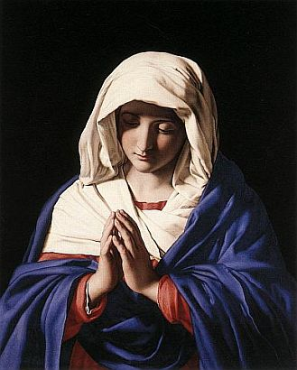 Picture of the Virgin Mary from the Italian Baroque painter Giovanni Battista Salvi da Sassoferrato, courtesy of Wikipedia