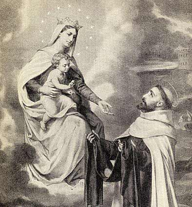 This picture of Our Lady of Mount Carmel with Saint Simon Stock courtesty of Chant Art