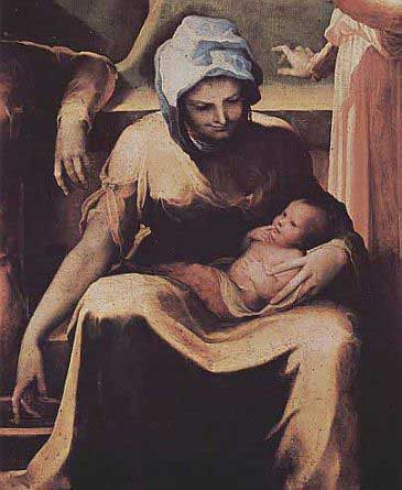 Paintng of St.  Anne and the Blessed Virgin Mary by Domenico Beccafumi, courtesy of Wikipedia