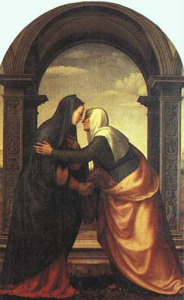 Painting of the Visitation by  Mariotto Albertinelli, courtesy of Wikipedia