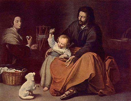 Painting of the Holy Family by Bartolomé Esteban Perez Murillo, courtesy of Wikipedia